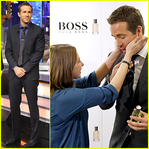 Ryan Reynolds Lets Fans Feel Him Up at Boss Bottled Event!