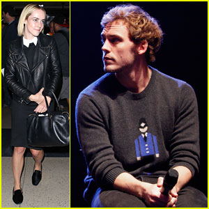 Sam Claflin & Jena Malone Wrap 'The Hunger Games: Catching Fire' Victory Tour in Texas