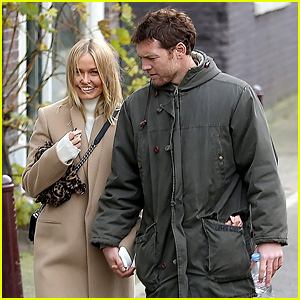 Sam Worthington Brings His Girlfriend Lara Bingle to Work