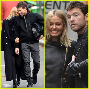 Sam Worthington & Lara Bingle Are Lovey-Dovey in Paris!