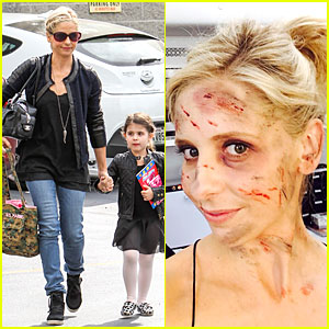 Sarah Michelle Gellar: Fake Bruised Face for 'Crazy Ones'!