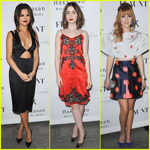 Selena Gomez & Lily Collins: 'Flaunt Magazine' Party Pair