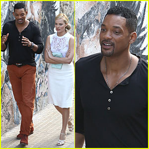 Will Smith & Margot Robbie: 'Focus' Filming in Argentina!