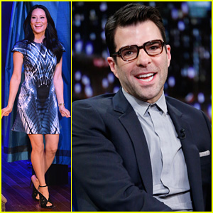 Zachary Quinto & Lucy Liu Play Catchphrase on 'Jimmy Fallon'!
