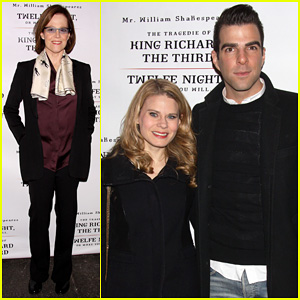 Zachary Quinto & Sigourney Weaver: 'Twelfth Night' Opening Night!
