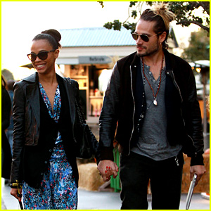 Zoe Saldana & Marco Perego Hold Hands, Look So in Love!