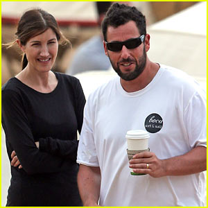 Adam Sandler Spends Relaxing Beach Day with Wife Jackie!
