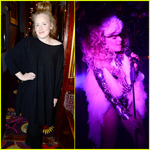 Adele Makes Rare Appearance to Attend Lady Gaga Concert!