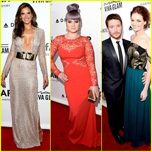 Alessandra Ambrosio & Kelly Osbourne: amfAR Gala Gals!