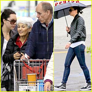 Amanda Bynes: Rainy Costco Run with Parents!