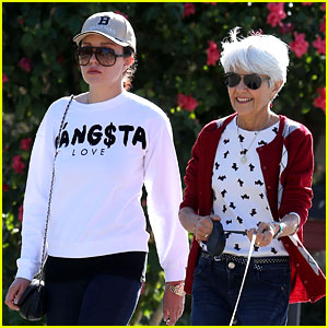 Amanda Bynes Walks Her Dog with Mom & Dad After Rehab