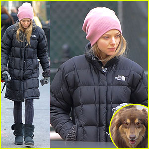 Amanda Seyfried: Post-Christmas Pink Walk with Finn!