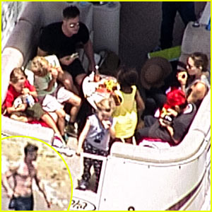 Angelina Jolie & Shirtless Brad Pitt: Boating with the Kids!