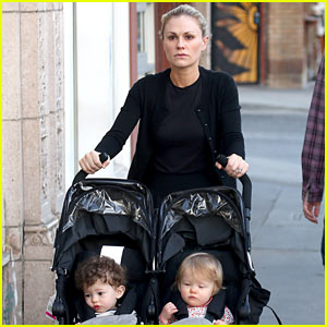 Anna Paquin Walks with Charlie & Poppy for Afternoon Stroll!