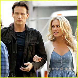 Anna Paquin & Stephen Moyer: Commercial Shoot Couple!