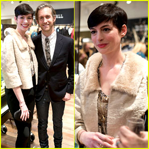 Anne Hathaway is a Supportive Wife at Husband Adam Shulman's Jewelry Launch!