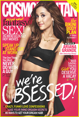 Ariana Grande Covers 'Cosmopolitan' February 2014