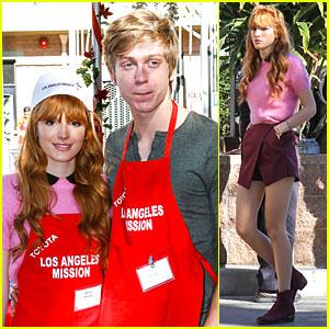 Bella Thorne & Tristan Klier: L.A. Mission Christmas Eve Celebration!