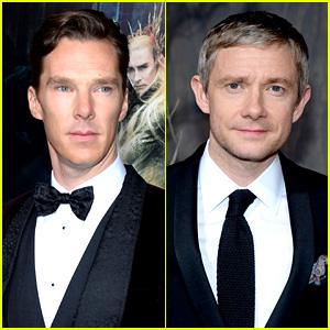 Benedict Cumberbatch & Martin Freeman: 'Hobbit' Premiere!