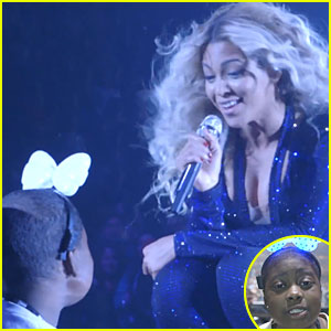 Beyonce Dances & Sings with Cancer Patient Taylon!