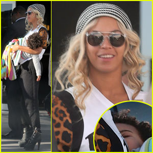 Beyonce: Private Plane Ride with Sleeping Blue Ivy!