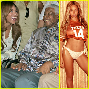 Beyonce Shares Photo of Herself & Nelson Mandela on Tumblr