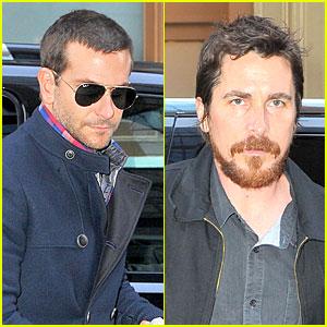 Bradley Cooper & Christian Bale: 'American Hustle' Promoters!