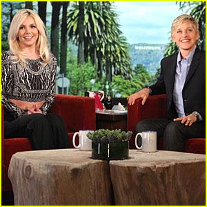 Britney Spears Professes Love for David Lucado on 'Ellen'!