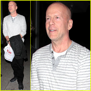 Bruce Willis Dines with 'Red' Producer After Baby News!