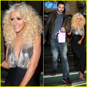 Christina Aguilera & Matthew Rutler: Off Vine Dinner After 'The Voice' Finale!