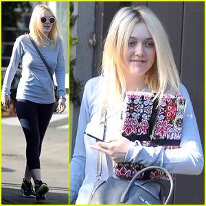 Dakota Fanning: Friday at Fred Segal with Mom Heather