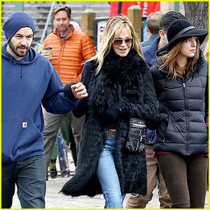 Dakota Johnson & Boyfriend Jordan Masterson Hang Out with Her Family!
