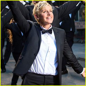 Ellen DeGeneres Dances in the Streets in First Oscars Promo!
