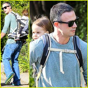 Freddie Prinze Jr. Walks the Dog with Son Rocky James!