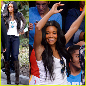 Gabrielle Union Cheers on Fiance Dwyane Wade at Heat Game