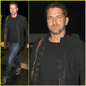 Gerard Butler Catches a Flight Out of LAX