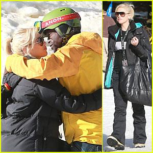 Gwen Stefani & Seal: Warm Hug in Snowy Mammoth!