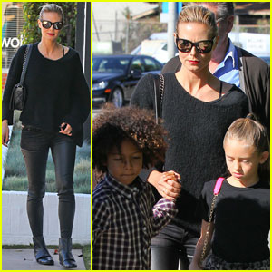 Heidi Klum: Sunday Lunch with Her Parents & the Kids!