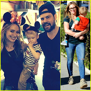 Hilary Duff & Mike Comrie: Luca's First Time at Disneyland!