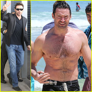Hugh Jackman: Shirtless Swim in Sydney!