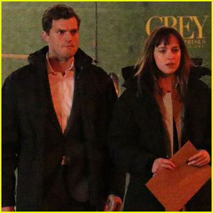Jamie Dornan & Dakota Johnson: 'Fifty Shades of Grey' Night Rehearsal!