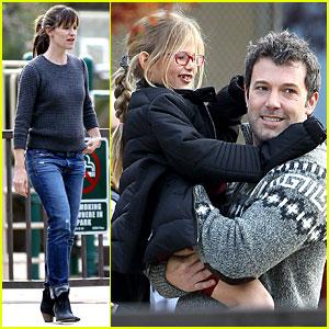 Jennifer Garner & Ben Affleck: Sunday Park Day with the Kids!