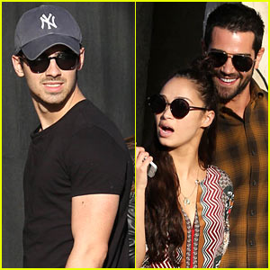 Joe Jonas & Jesse Metcalfe Lunch with Their Gals at Little Dom's!