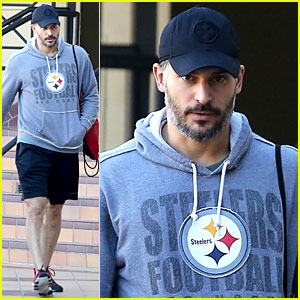 Joe Manganiello Works Off His Christmas Dinner at the Gym!