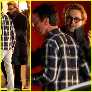 Johnny Depp Hugs Pal Goodbye After Holiday Shopping Trip