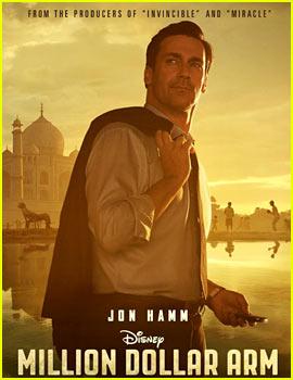 Jon Hamm: 'Million Dollar Arm' Poster & Trailer - Watch Now!