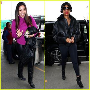 Jordin Sparks & Jennifer Hudson: 'Idol' Ladies at LAX Airport!