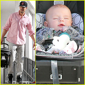 Josh Duhamel & Axl: Early World Cafe with Goldie Hawn!
