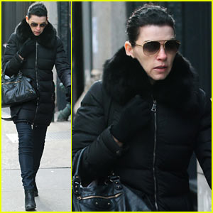 Julianna Margulies Braves Brisk Weather for Christmas Eve Walk