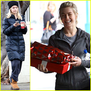 Julianne Hough Gets In the Christmas Spirit with Armful of Gifts!